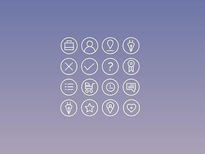 Nannifinder Icon Set Joao Ferreira Freelance Designer icons ui ux designer app
