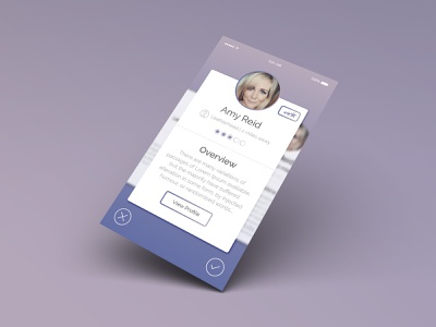 Nannifinder Nanni Card View Joao Ferreira app design ui