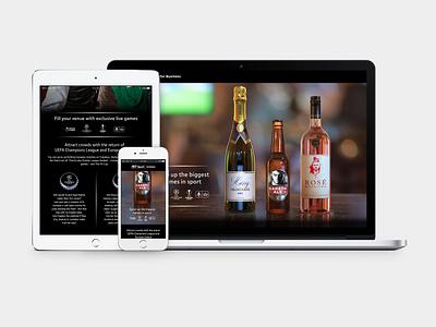 BT Sport Bottle Micro Site sport ui design web design ui