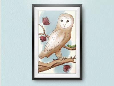 OWL CHILDREN'S ILLUSTRATION illustrator animal art art digital painting draw storybook illustration owl