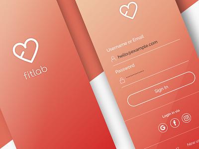 Fitlab App Design fitness appdesign app ux ui app