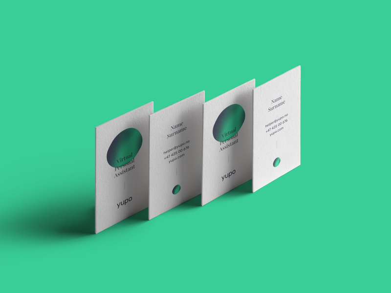 Yupo Virtual Personal Assistant Business Cards By Andrius