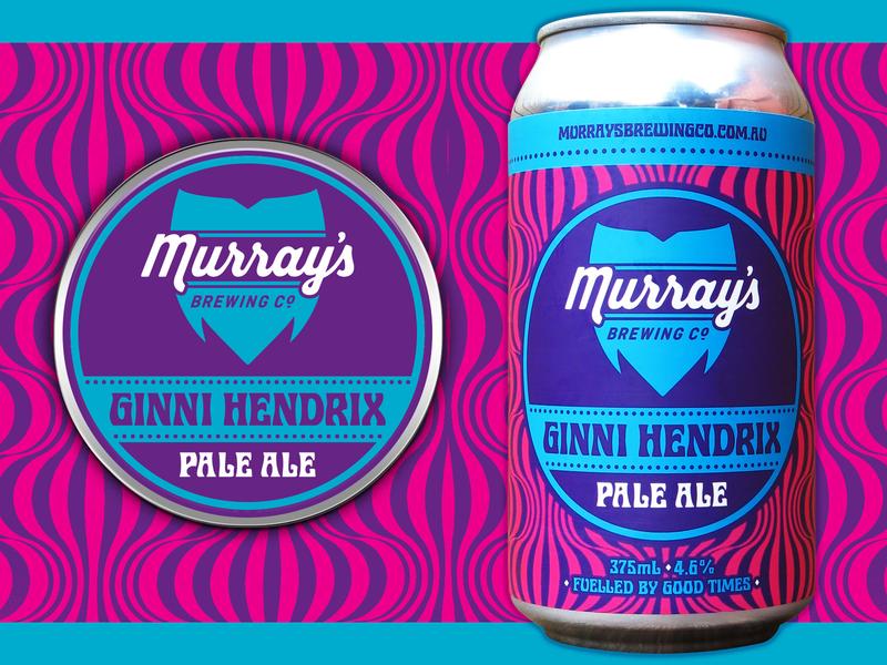 Murray's Ginni Hendrix beer label packaging design beer design beer can craft beer