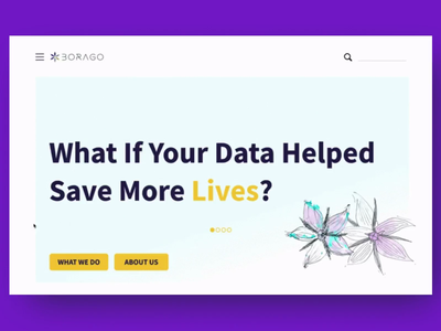 Borago Insights Homepage header uxdesign homepage