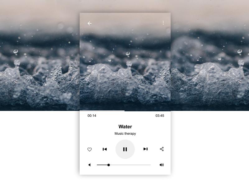Music_Player _ DailyUI _ 09 dailyui