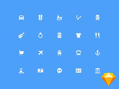 Freebie - 75 MCC icons bank ok ak bars abb sketch freebie free collection glyphs set icons icon bank