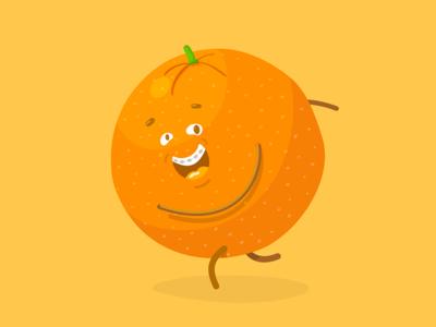 Orange animation studio polarfux vienna laugh smiles an orange a day vitamin personal project fun project smile braces fruit salad fruit orange character illustration character design vector illustration vector illustration