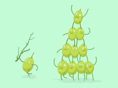 Cheeky Grape cheeky illustrator vectorillustration playnice teamwork grapes fruit characterdesign character art vienna animation studio vector polarfux illustration