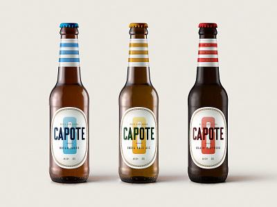 Capote 8 Beer brewery beer logo brand packaging branding design