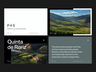 Prats & Symington Business Book wine estate estate wine deck typography brand branding design