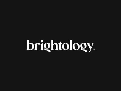 Brightology Logo Concept light bright typography vector brand logo branding design