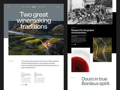P+S Website Direction portugal douro winery typography wine website ux ui brand web design