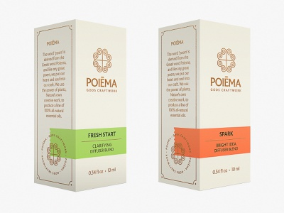 Poiēma Diffuser Collection aromatherapy diffuser poiema essential oils essential oil packaging brand branding design