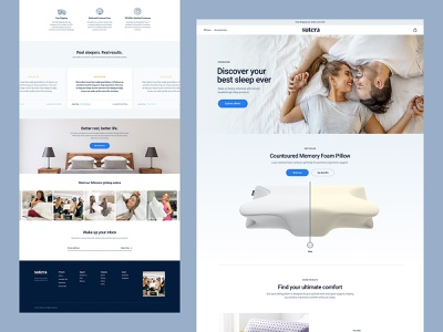 WIP Sutera Store pillow bedding sleep ux website ui web brand branding design