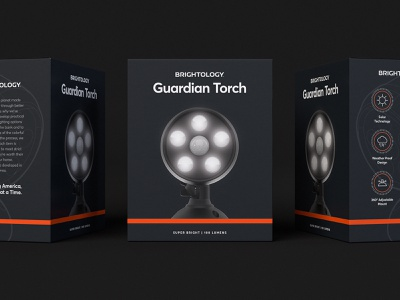 Guardian Torch by Brightology technology tech lights security lighting packaging brand branding design