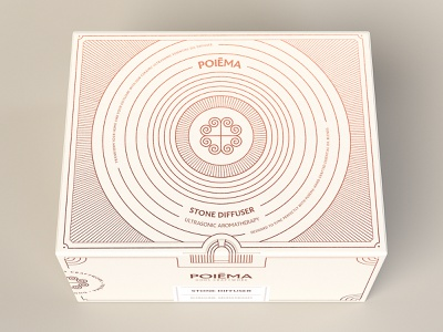 Poiēma Stone Diffuser diffuser box essential oils illustration packaging brand branding design