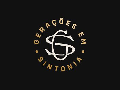 GS Wines Logo monogram winery wine vector brand logo branding design