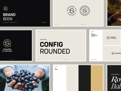 GS Wines Brand Book guides wine guidelines logo typography brand branding design