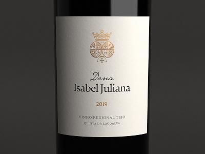 Dona Isabel Juliana Label winery wine label wine packaging wine typography packaging brand logo branding design