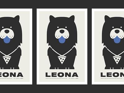 LEONA Poster animal chowchow dog poster vector illustration design