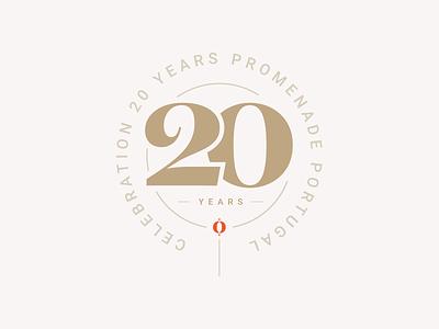 20 Years Promenade Badge branding promenade travel 20 years