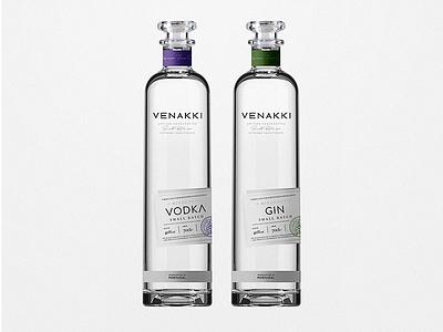 Venakki Mixology Packaging gin vodka bottle design packaging branding logo