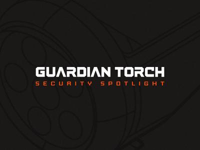 Guardian Torch tech flat branding logo design