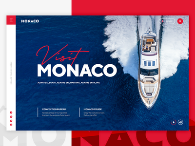 Visit Monaco yatch monaco website web ux ui design