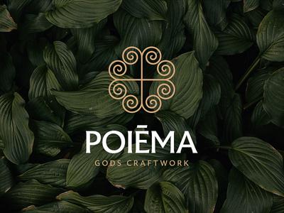 Poiēma, Gods Craftwork natural essential oils vector logo branding design