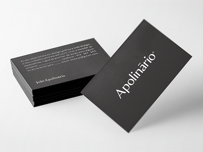 Personal Business Cards apolinario business card card minimal typography branding logo design