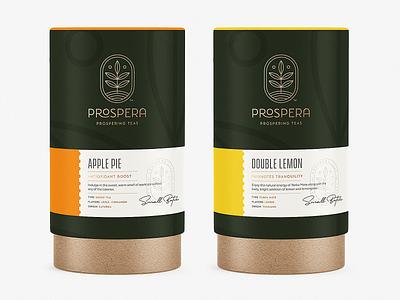 Prospera Teas Packaging Concept prospera tube leaves leaf tea packaging branding design