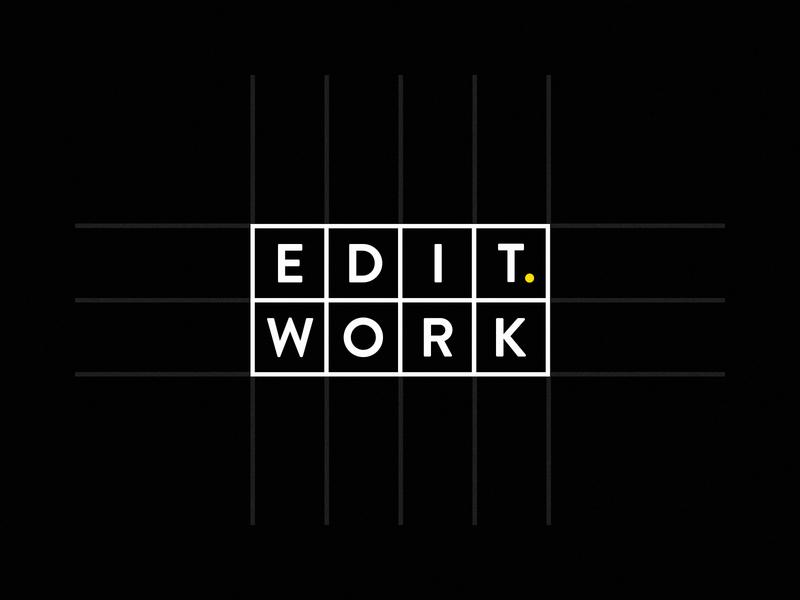 EDIT. WORK Logo Review school typography vector design logo branding