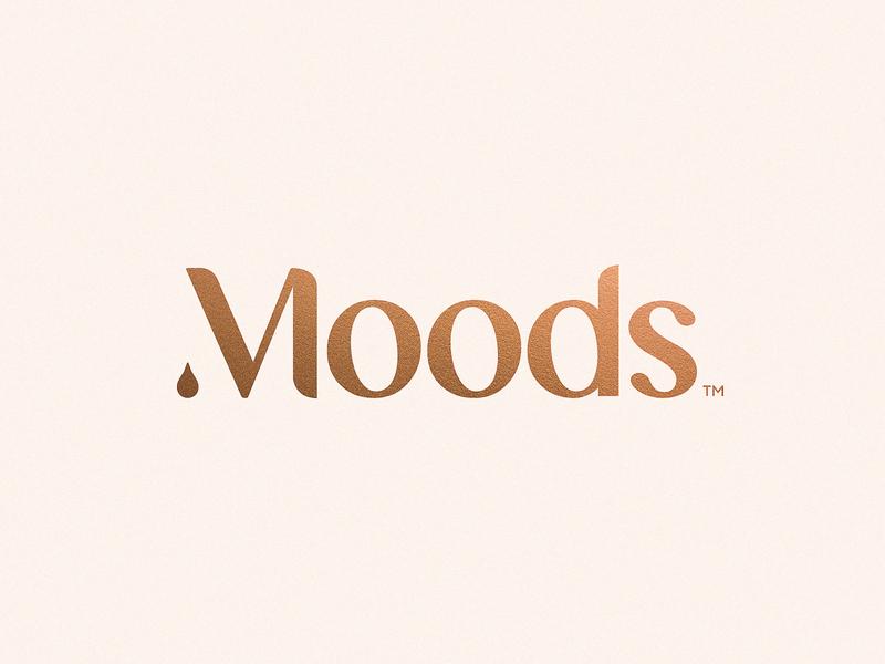 Moods essential oils moods mood aromatherapy vape vector typography brand design branding logo