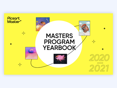 Digital Picsart Masters Yearbook 2021 piscart graphic typography collage editorial book graphic design