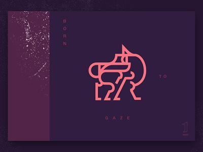 Born to gaze ux ui design logo web branding