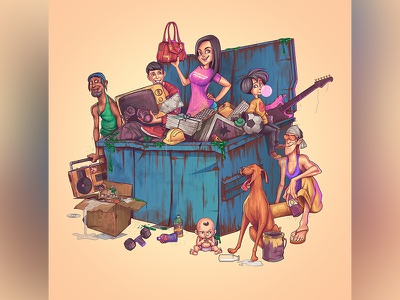 Digital Paint - Dumpster Dealz artwork character illustrator photoshop illustration design paint digital art dumpster