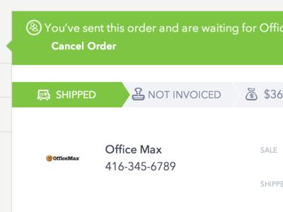 Carta - Shipped a sales order