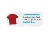 Mozilla Open Web Fund T Shirt Promo