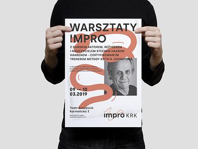 Impro KRK   Improvisational Theatre improvisation event poster art theatre actor poster print logo typography corporate identity branding visual identity design graphic graphicdesign