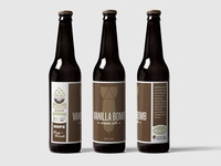 Vanilla Bomb Beer Labels / Packaging