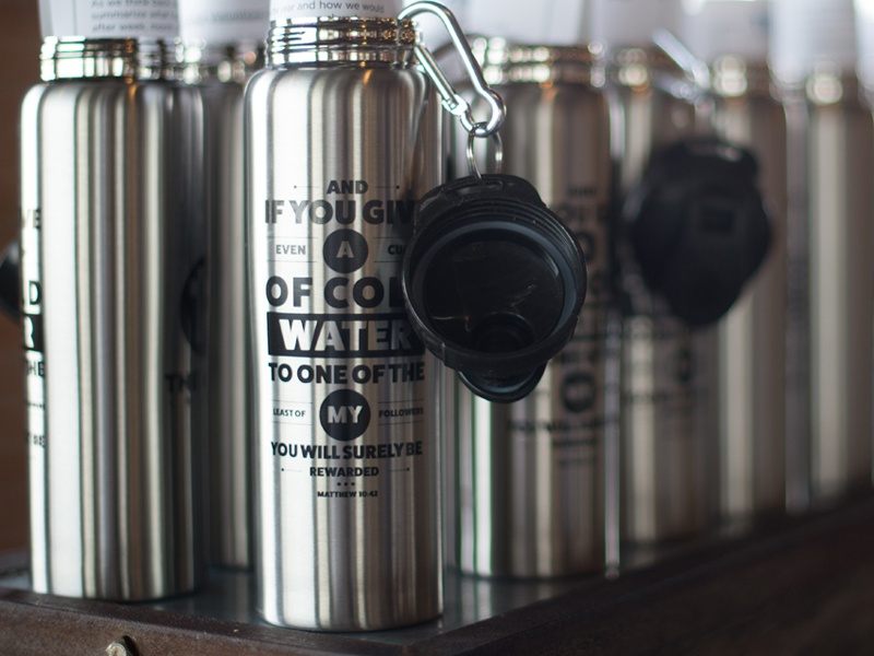Waterbottle dribbble