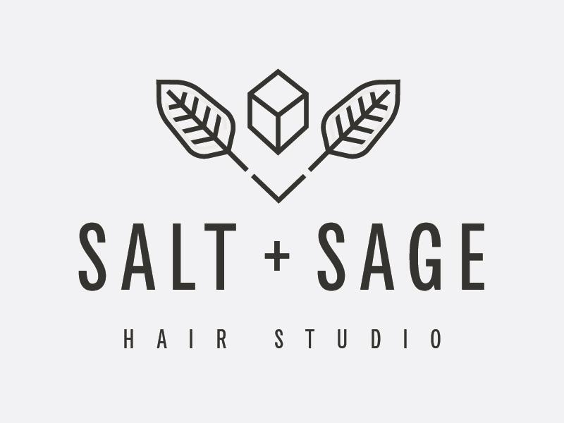 Salt + Sage logo studio hair salon utah design damico tony logo sage salt