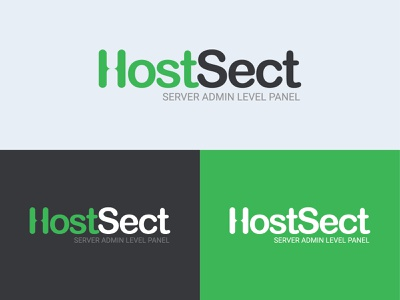 HostSect Logo vector icon design branding logo