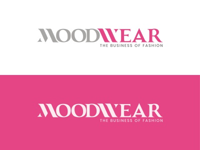 MoodWear Fashion Logo minimal lettering flat illustration vector icon design logo