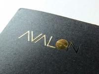 AVALON | Slick Vintage Gold Foil Stamp