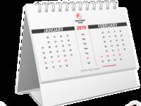7 Horse Cement Desk Calendar 2019
