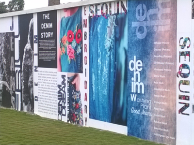 Doreen Garments Wall Branding photoshop illustrator jeans denim fashion branding wall branding nabi textiles washing plant doreen apparels doreen garments doreen