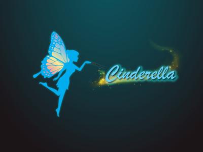 Cinderella Handwash flat vector logo photoshop identity illustration design branding illustrator concept creative cinderella
