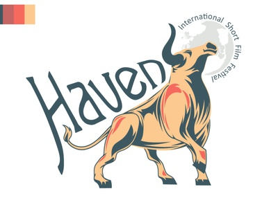 Haven International Short Film Festival typography photoshop logo flat vector branding identity design illustrator festival haven