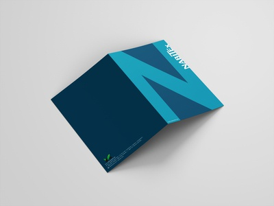 NabiTex | Bi-fold Brochure lettering illustrator typography flat logo vector design photoshop identity branding